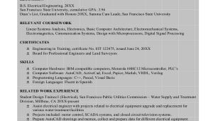 Electrical Engineer Resume Pdf Sample Engineering Resume 8 Examples In Word Pdf