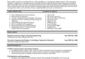 Electrical Engineer Resume Template Example Resume Electrical Engineering Student Resume Sample