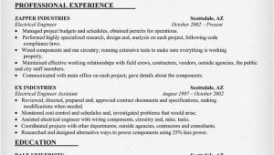 Electrical Engineer Resume Template Rvwrite Blog
