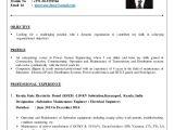 Electrical Maintenance Engineer Resume Electrical Engineer Cv