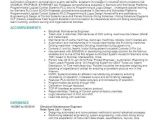 Electrical Maintenance Engineer Resume Electrical Maintenance Engineer Objectives Resume