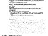 Electrical Maintenance Engineer Resume Electrical Maintenance Technician Resume Samples Velvet Jobs