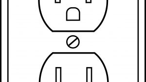 Electrical Outlet Template Electrical Outlet Clipart