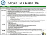 Electronic Lesson Plan Template Lesson Plan Template for Aligning Activities with the Ecc