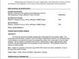 Electronics Engineering Fresher Resume format Electronic Engineer Resume format