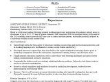 Elementary Teacher Resume Template Elementary School Teacher Resume Template Monster Com