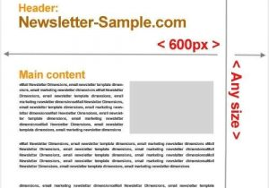 Email Blast Template Size Email Newsletter Templates Size Website Templates