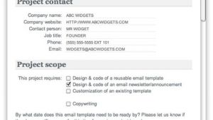 Email Brief Template HTML Email Creative Brief Email Marketing Integration