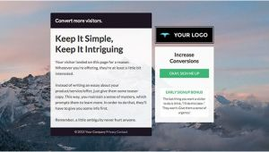 Email Capture Page Template the Ultimate List Of Free Landing Page Templates From