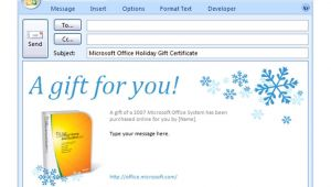 Email Gift Certificate Template Free Free Gift Certificate Email Template
