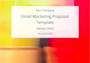 Email Marketing Proposal Template Email Marketing Proposal Template and Sample Bidsketch