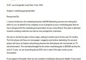 Email Marketing Proposal Template Email Marketing Proposal Template One Piece