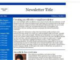 Email Newsletter Templates for Outlook Email Newsletter Templates Slim Image