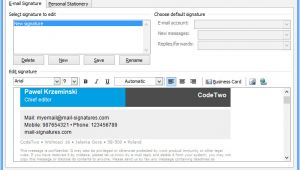 Email Signature Template Editor HTML Email Signature Setup In Outlook 2007