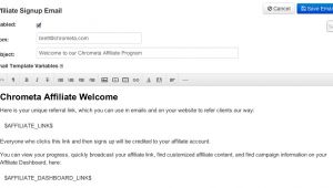 Email Template for Affiliate Program Affiliate Tracking software Online Marketing System