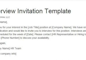 Email Template for Interview Invite Pin by Ihire On Employer Hiring Manager tools