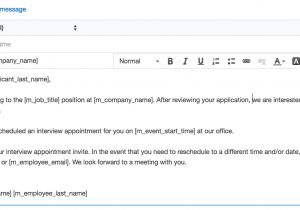 Email Template for Interview Invite Schedule An Interview Smartrecruiters