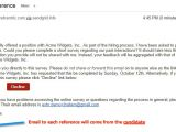 Email Template for Reference Check Reference Check software Exacthire