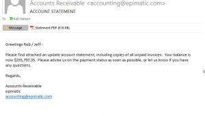 Email Template for Statement Of Account Dynamicspath