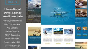 Email Template for Travel Agency Alt V Travel Agency Email Template Email Templates On