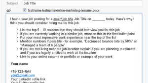 Email Template to Apply for Job Email Template for Successful Online Job Applications