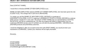 Email Template to Introduce New Employee May I Introduce Our New Employee to You Template