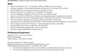 Embedded Engineer Resume 1 Year Experience Doc software Engineer Resume Example 10 Free Word Pdf
