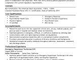 Emergency Medical Technician Resume Template Emergency Department Technician Resume Resume Ideas