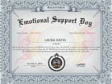 Emotional Support Dog Certificate Template Don 39 T Dog the System to Dine with Your Pup