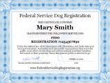 Emotional Support Dog Certificate Template Service Dog Registration Digital Certificate top Dog