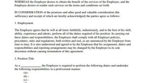 Employee Employer Contract Template Employment Contract 9 Download Documents In Pdf Doc