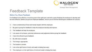 Employee Feedback Email Template Employee Feedback and Coaching Templates Download toolkit