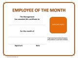 Employee Of the Month Certificate Template with Picture Employee Of the Month Certificate Template
