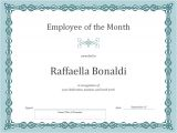 Employee Of the Month Certificate Template with Picture Employee Of the Month Certificate Template Template Haven