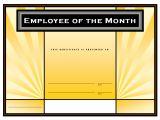 Employee Of the Week Certificate Template Blank Employee Of the Month Certificate Template 471411