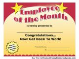 Employee Of the Week Certificate Template Employee Of Month Certificate Download This Funny