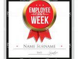Employee Of the Week Certificate Template Employee Of the Week Certificate Template Stock Vector Art