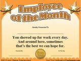 Employee Of the Week Certificate Template Funny Employee Awards 101 Funny Awards for Employees