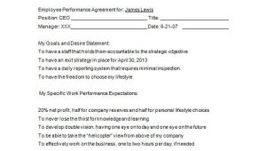 Employee Performance Contract Template 15 Performance Contract Templates Word Pdf Google