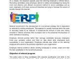Employee Referral Program Email Template Employee Referral Program Pdf