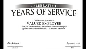 Employee Service Award Certificate Template Employee Service Award Certificate Template Templates