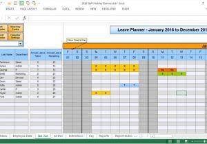 Employee Time Off Calendar Template 2016 Employee Time Off Calendar Template Calendar
