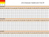 Employee Time Off Calendar Template 4 Vacation Schedule Templates Excel Xlts