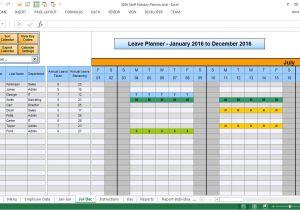 Employee Time Off Calendar Template Employee Time Off Calendar 2016 Calendar Template 2018