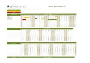 Employee Time Off Calendar Template Employee Time Off Calendar Template Printable Calendar