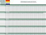 Employee Time Off Calendar Template Employee Vacation Time Tracking Vacation Time Tracking