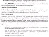 Employers Contract Template Printable Sample Employment Contract Sample form Laywers