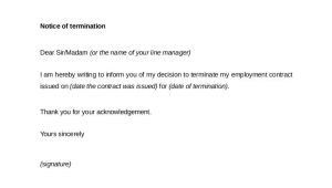 End Of Contract Termination Letter Template How to Terminate Contracts In the Workplace