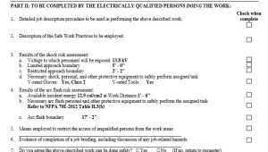 Energized Electrical Work Permit Template Creating Energized Electrical Work Permits