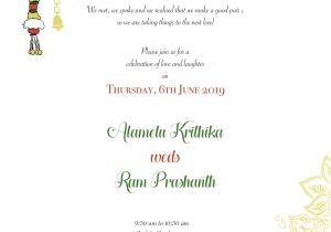 Engagement Invitation Card In Marathi south Indian Wedding Invitation by Swetects Indianwedding